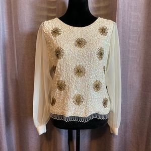 Vintage Cardell 100% wool blouse